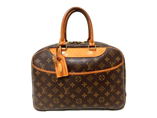 67a8e7db1145 BRANDOFF  Authentic LOUIS VUITTON Deauville Zipped Hand Bag Monogram ...