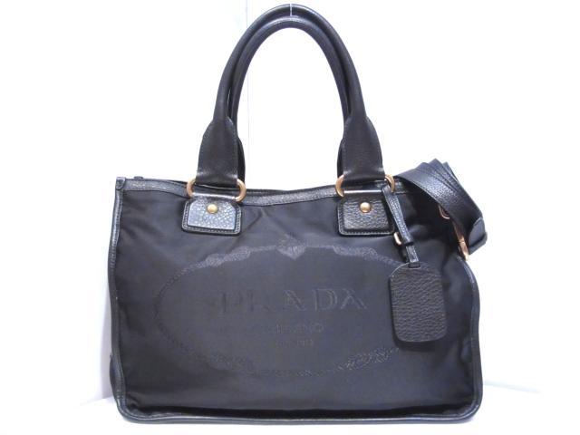 72438871dc40fd ... shopping prada 2way shoulder tote bag ladys nylon black br4795 acd92  51b78