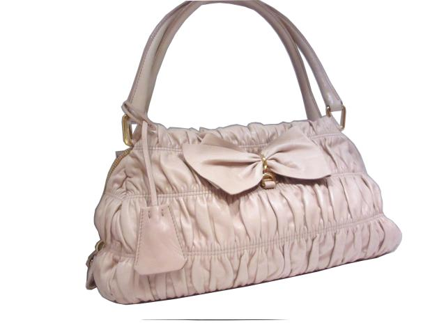 8e18a057dc15 order prada prada ribbon shoulder tote bag shoulder bag pink beige sheep leather  lamb brandoff brand