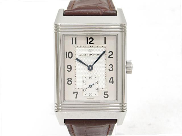【中古】 ジャガー・ルクルト ビッグレベルソ 腕時計 ウォッチ 時計 メンズ (SS)xレザーベルト (Q2708410)