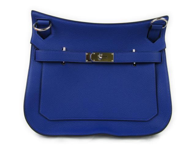Authentic Hermes Jypsiere 31 Shoulder Crossbody Bag Clemence Blue Electric