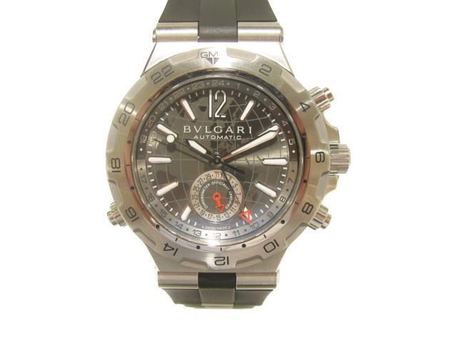 【中古】ブルガリ ディアゴノ プロフェッショナル 時計 ウォッチ メンズ ステンレススチール(SS)×ラバー (DP42SGMT)
