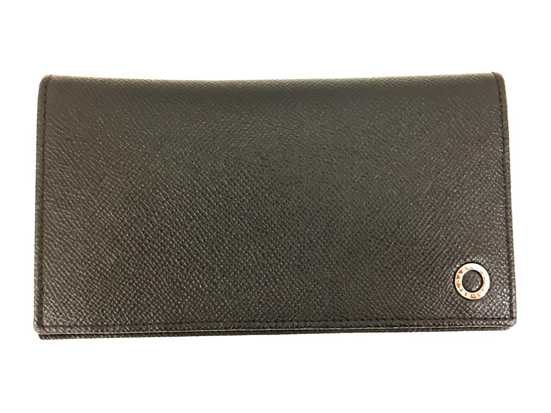 【中古】 ブルガリ ZIP長財布 ブラック 財布 メンズ 牛革(カーフ) ブラック (201805)