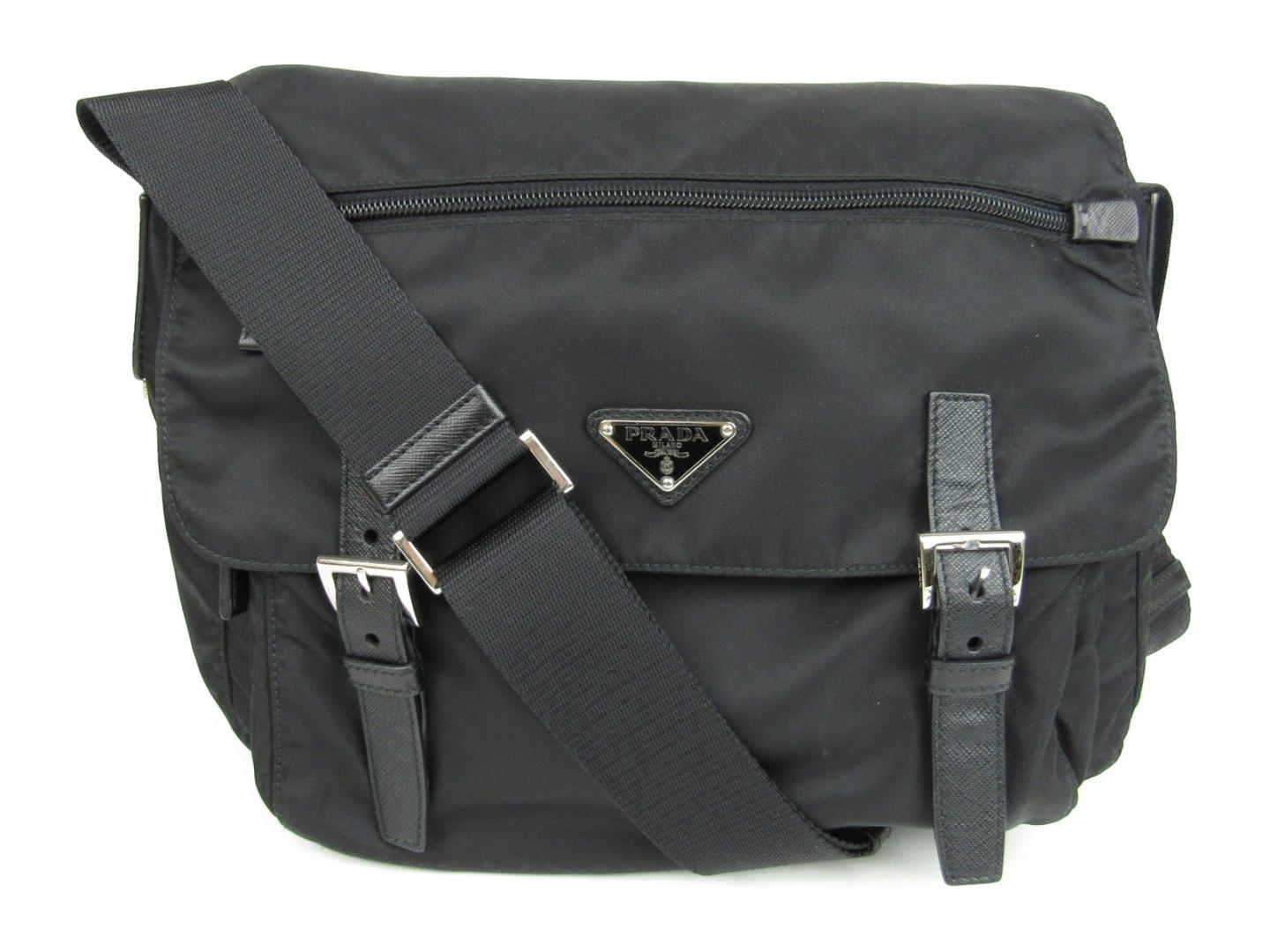 6ed088bb9f BRANDOFF  Authentic PRADA Shoulder Bag nylon Black