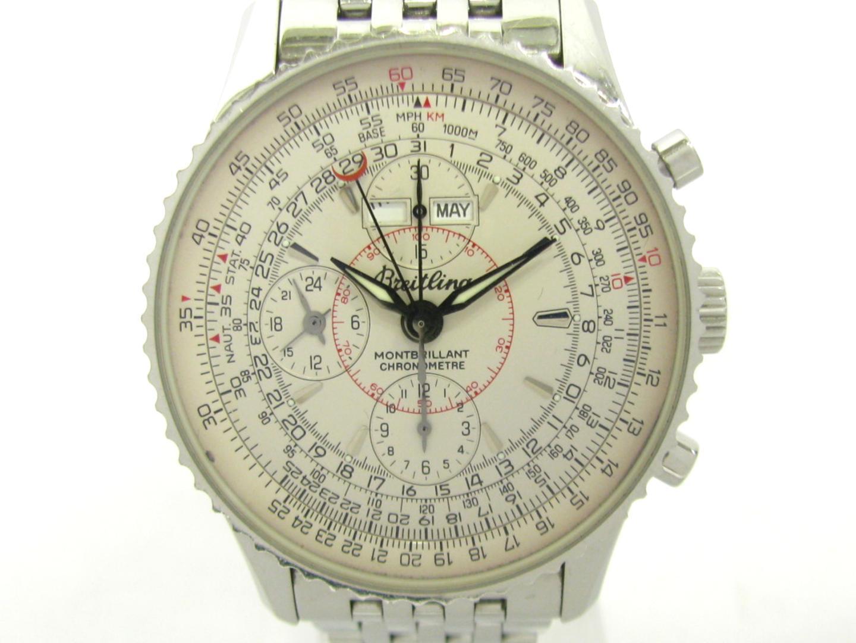 【中古】ブライトリング モンブリランダトラ 腕時計 ウォッチ メンズ ステンレススチール(SS) アイボリー (A21330)