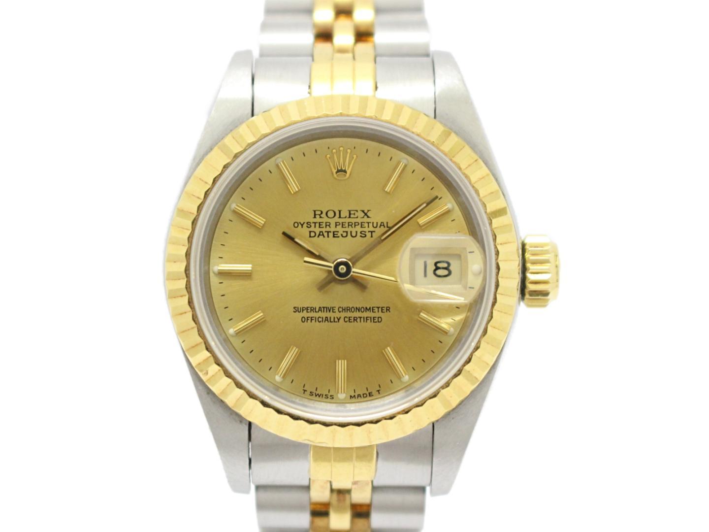 【中古】ロレックス デイトジャスト レディース ウォッチ 腕時計 時計 レディース K18YG(750)イエローゴールド×ステンレス ゴールド×シルバー (69173)