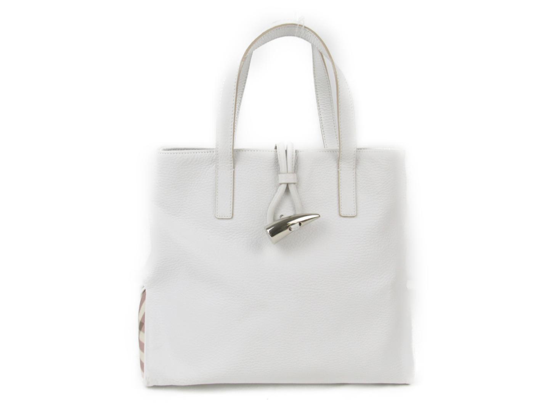 c97677ab9689 BRANDOFF  Authentic BURBERRY HandBag lady leather White x pink check ...