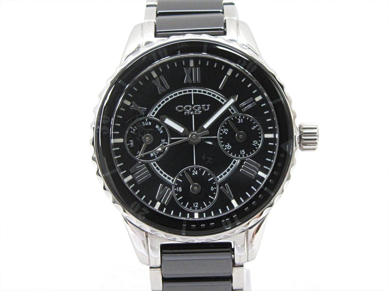 【中古】コグ 腕時計 ウォッチ レディース ステンレススチール(SS)xセラミック