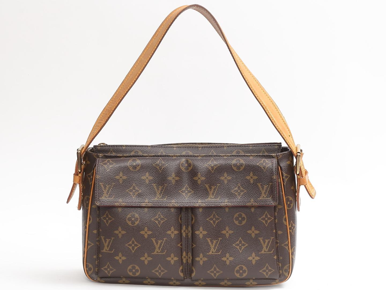 8f609e55a0f Authentic LOUIS VUITTON Viva Cite GM Shoulder Bag M51163 Monogram Canvas