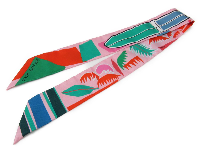 エルメス ツイリー トゥイリー スカーフ シルク リボン レディース マルチカラー 小物 衣料品 | HERMES BRANDOFF ブランドオフ ブランド