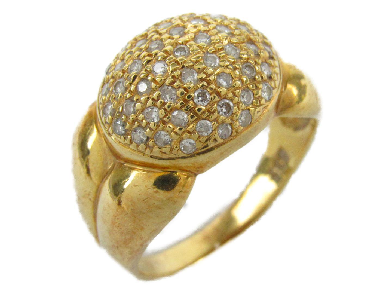 【最大24回無金利】 ジュエリー ダイヤモンド リング 指輪 レディース K18YG (750) イエローゴールドxダイヤモンド0.32ct 【中古】 | JEWELRY BRANDOFF ブランドオフ アクセサリー