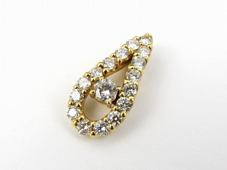 【最大24回無金利】 ジュエリー ダイヤモンド トップ ネックレス レディース K18YG (750) イエローゴールド x ダイヤモンド1.04ct 【中古】 | JEWELRY BRANDOFF ブランドオフ アクセサリー ペンダント