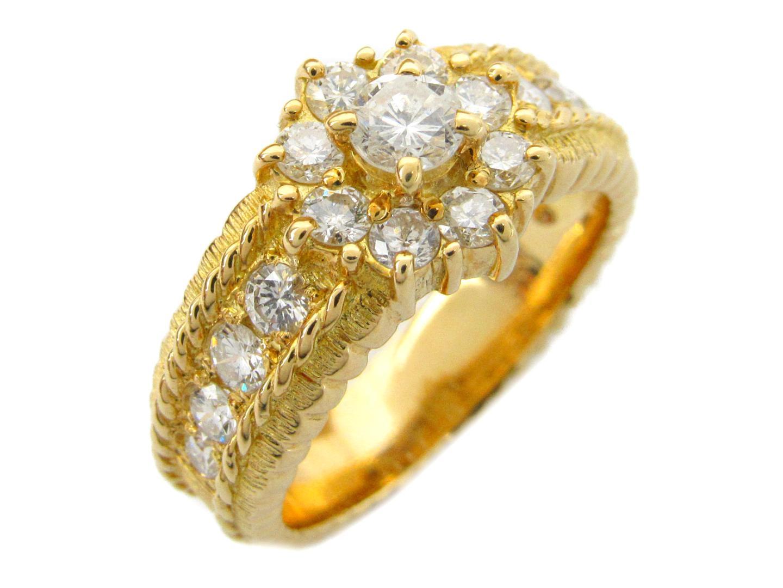 【最大24回無金利】 ジュエリー ダイヤモンド リング 指輪 レディース K18YG (750) イエローゴールドxダイヤモンド1.10ct 【中古】 | JEWELRY BRANDOFF ブランドオフ アクセサリー