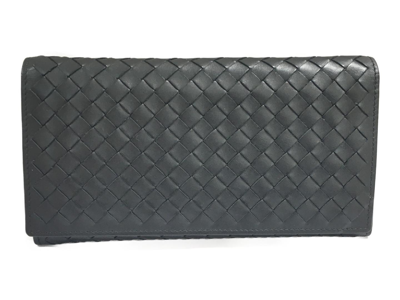 【中古】ボッテガ・ヴェネタ ZIP長財布 財布 メンズ 羊革(ラム) ブラック (156819V4651)