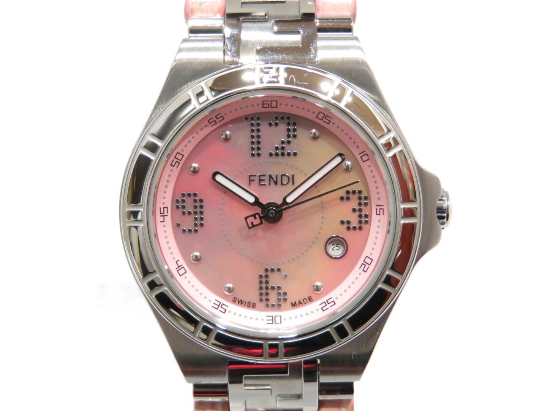 【中古】フェンディ 時計 ウォッチ 腕時計 レディース ステンレススチール(SS)×レザー (4600L)