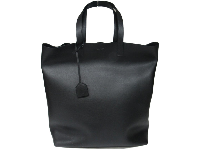 【中古】サン・ローラン トートバッグ バッグ ユニセックス レザー ブラック