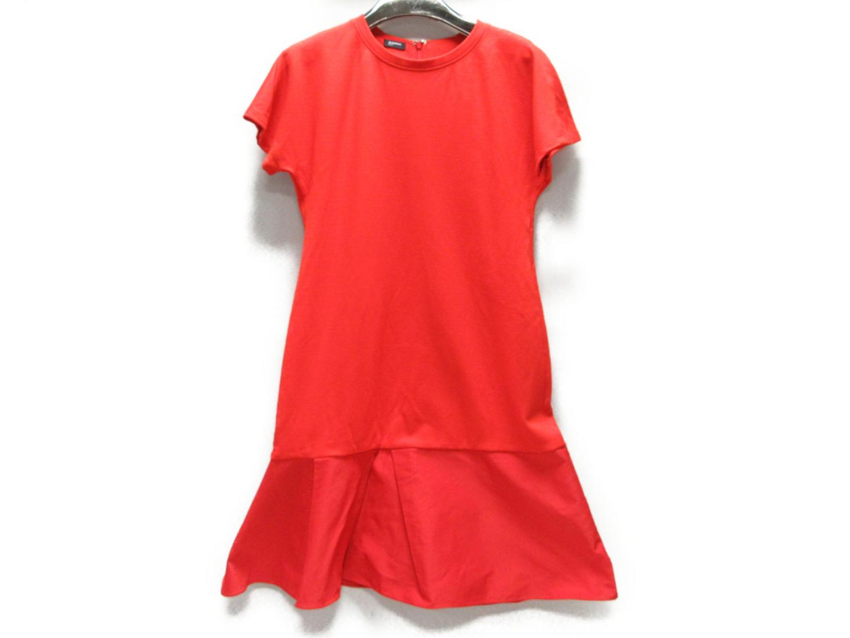 【中古】ジル・サンダー NAVY ワンピース 衣料品 レディース レーヨン(70%)xその他(30%) 朱色