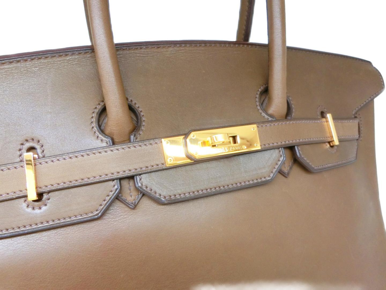 848b758b8aef バーキン35 ハンドバッグ バッグ カーキ ヴォーバレニア ゴールド金具 ...
