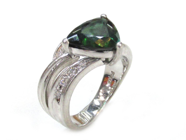 【中古】ジュエリー 色石リング ダイヤモンド 指輪 ノーブランドジュエリー レディース PT900 プラチナ×色石(3.36)×ダイヤモンド(0.08)