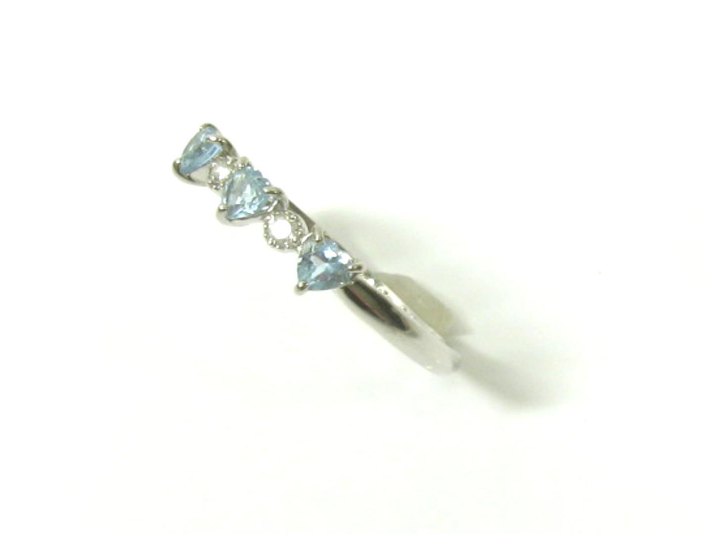 a871b966a44f 【中古】ジュエリー アクアマリンリング 指輪 12号 貴金属 宝石 レディース PT900 プラチナX