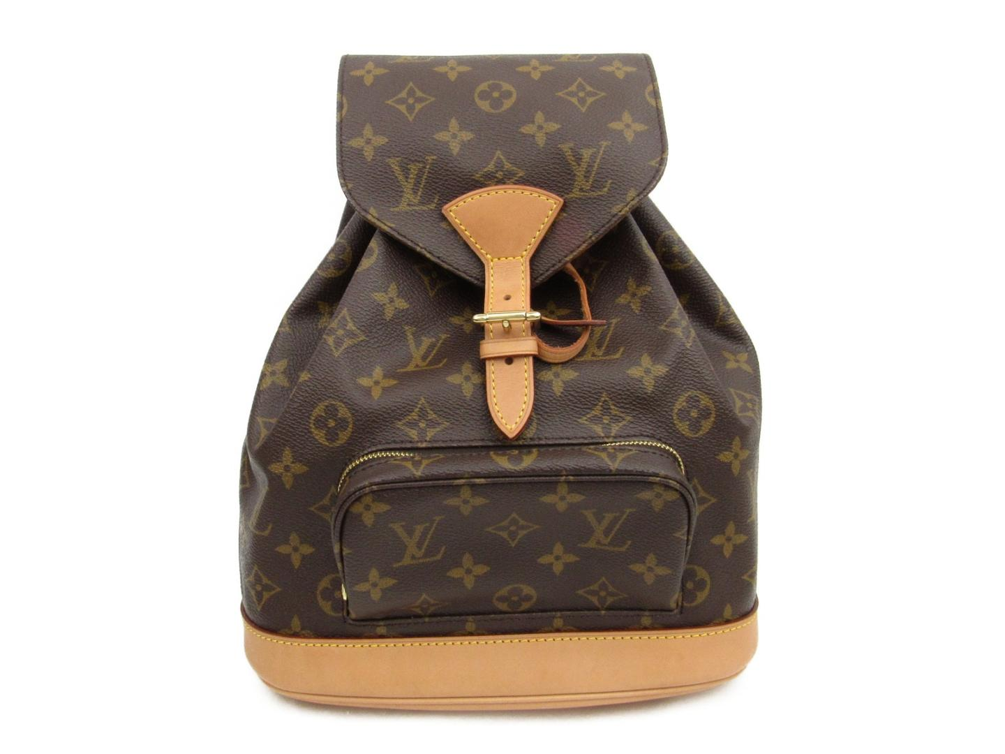 b099fee69c2e Authentic LOUIS VUITTON Montsouris MM rucksack backpack M51136 Monogram