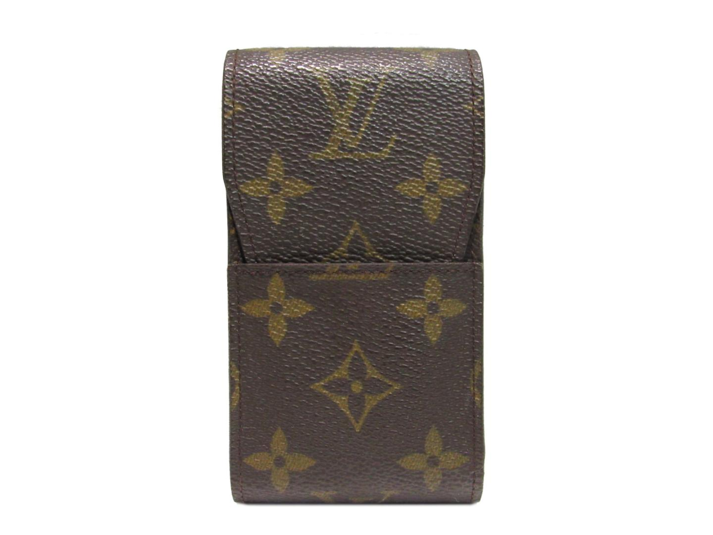 a8931e70582 Authentic LOUIS VUITTON Etui cigarette case tobacco case M63024 Monogram