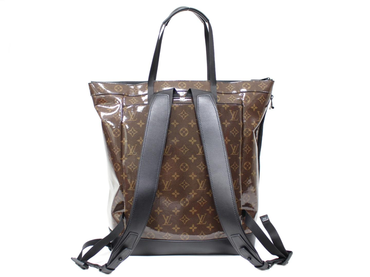 3678de43878e Authentic LOUIS VUITTON Zippered Tote Tote Bag backpack M43890 Monogram  Glaze