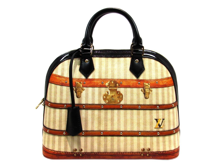 BRANDOFF  Authentic LOUIS VUITTON Alma PM Hand Bag Leather Brown ... 433c6dbf87ea3