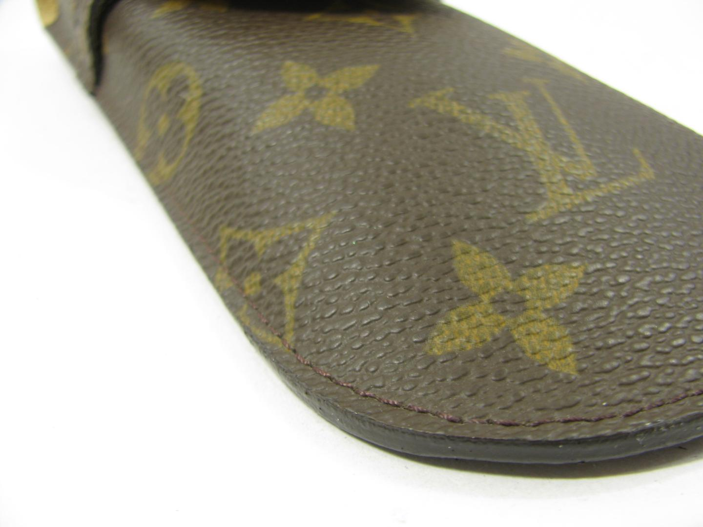 1777f83276f2 ... Authentic LOUIS VUITTON Etui Lunet Glasses Case M62970 Monogram ...