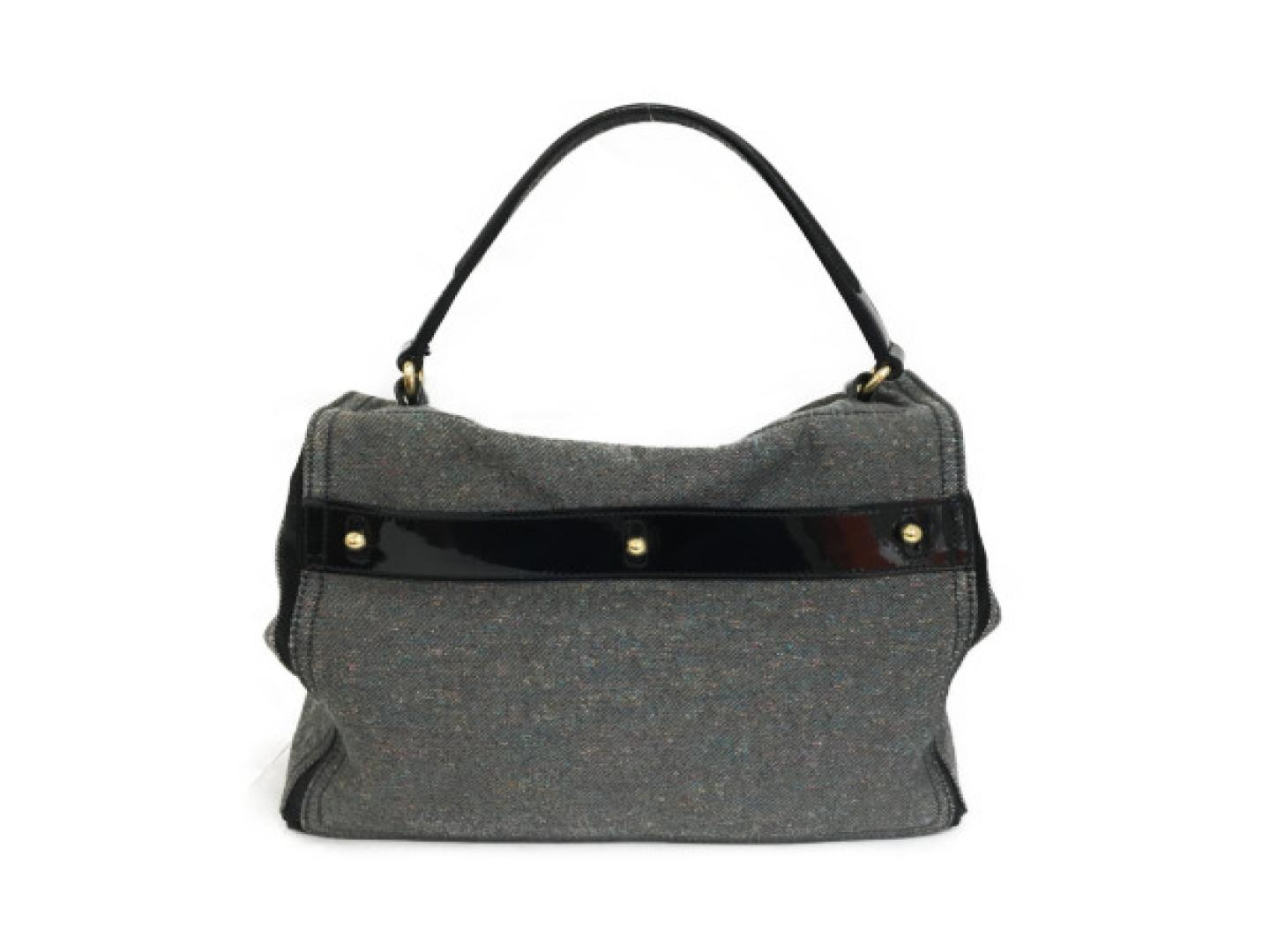 1962a1fb7f86 BRANDOFF  Authentic YVES SAINT LAURENT Muse To HandBag canvas Grey ...