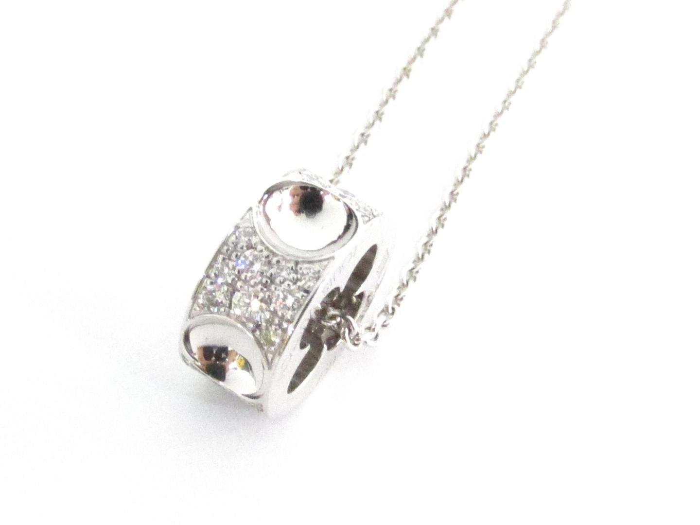 【中古】ルイヴィトン パンダンティフ アンプラント ネックレス ブランドジュエリー レディース K18WG(750) ホワイトゴールド×ダイヤモンド