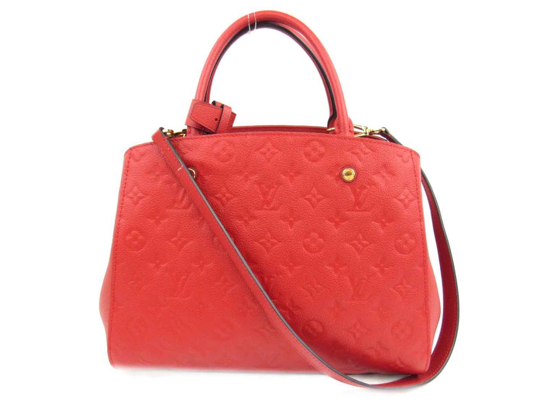 Authentic Louis Vuitton Montaigne Mm Shoulder Bag M41194 Monogram Empreinte Leather