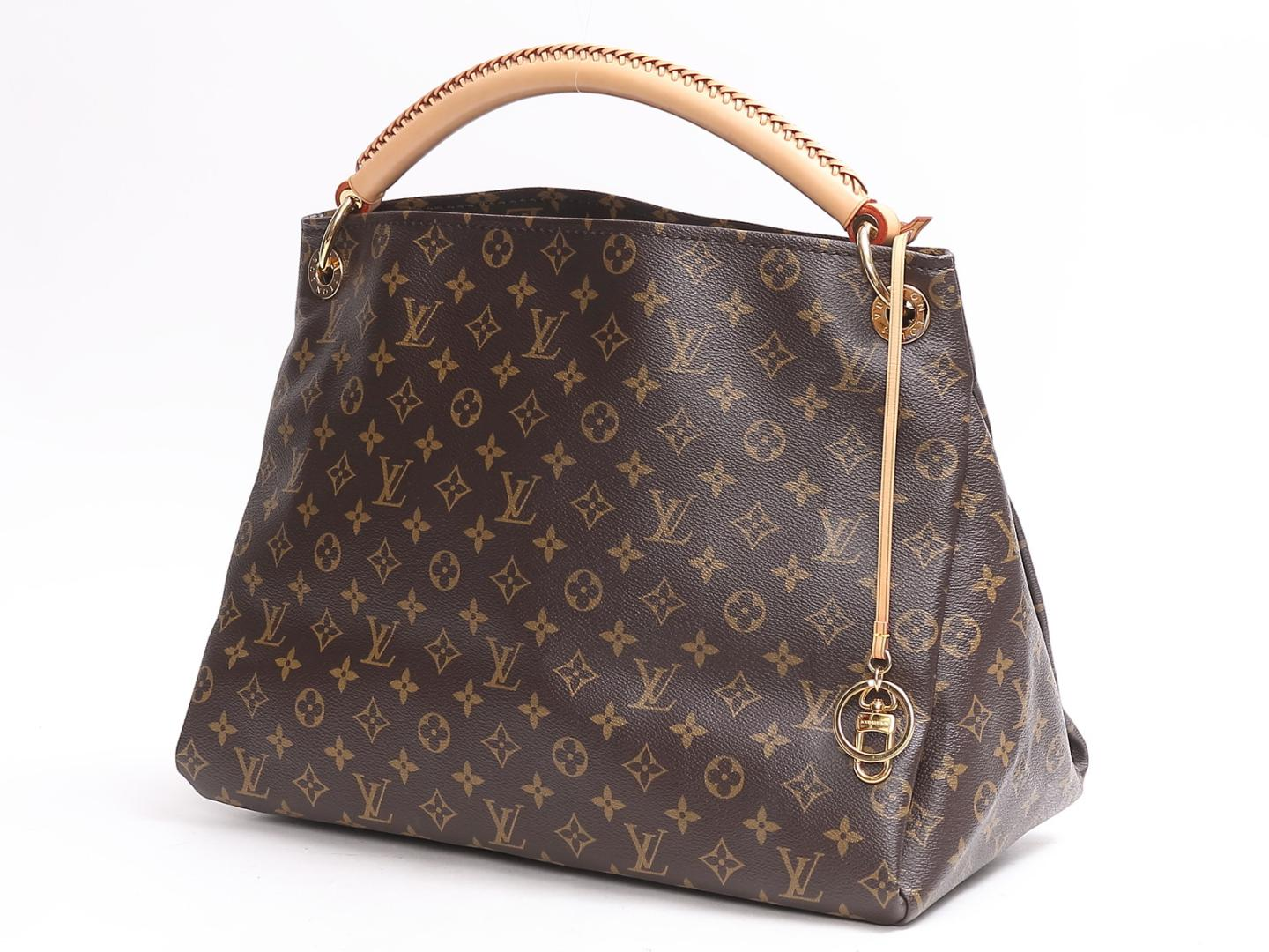 (Free shipping) Auth LOUIS VUITTON Artsy MM shoulder bag M40249 Monogram  Used  18252e160f8e3