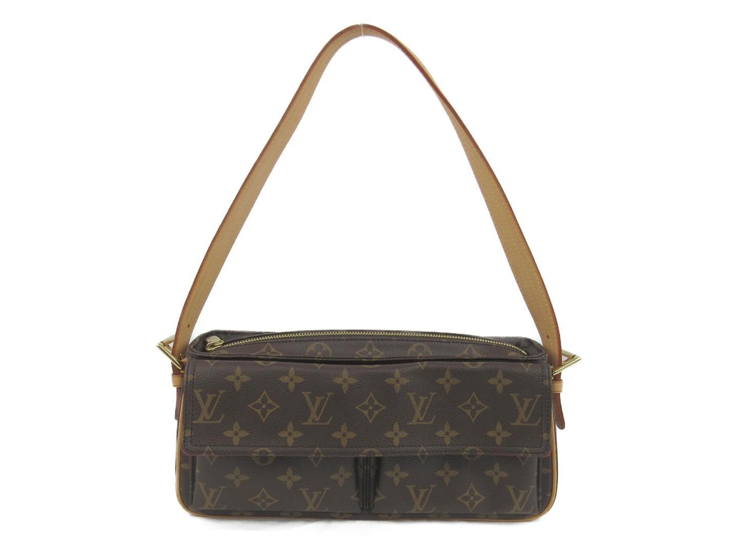 b3a41285df33 BRANDOFF  Authentic LOUIS VUITTON Viva Cite MM Shoulder Bag M51164 ...
