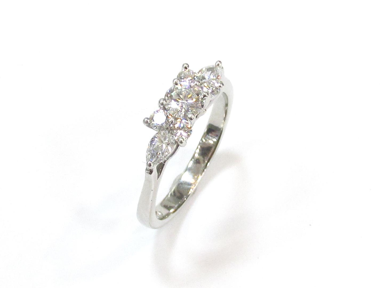 【中古】ティファニー セブンストーンリング ダイヤモンドリング 指輪 ブランドジュエリー レディース PT950 プラチナ