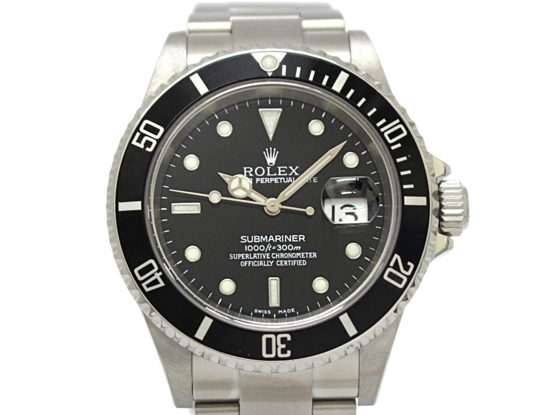 【中古】ロレックス サブマリーナ メンズ ウォッチ 腕時計 ステンレススチール (SS) シルバー × ブラック (16610)