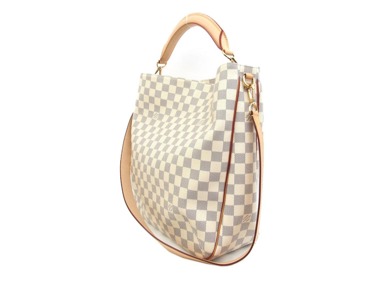 c4f1c0ee8 ... Auth LOUIS VUITTON Sophie Soffi shoulder hand bag N41216 Damier Azur  canvas Ivory | BRANDOFF Ginza ...