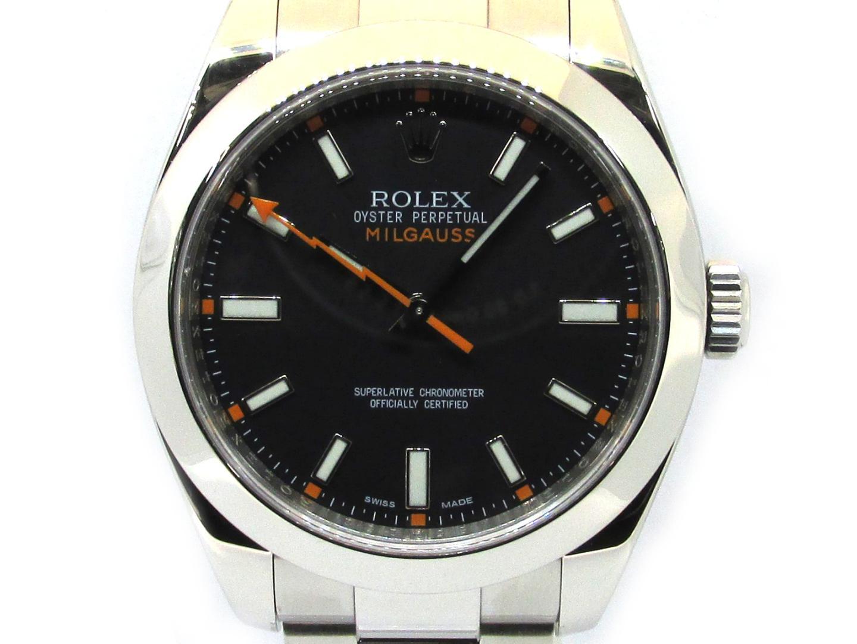 【中古】ロレックス ミルガウス ウォッチ 腕時計 メンズ ステンレススチール (SS) (116400)