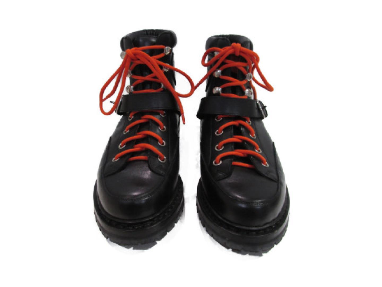 【最大24回無金利】 エルメス マウンテンブーツ レディース レザー ブラック オレンジ 【中古】   HERMES BRANDOFF ブランドオフ ブランド 靴 シューズ クツ ブーツ
