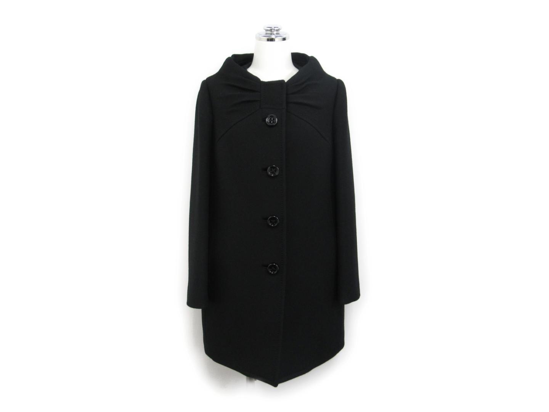 【中古】ケイトスペード コート レディース ウール ブラック
