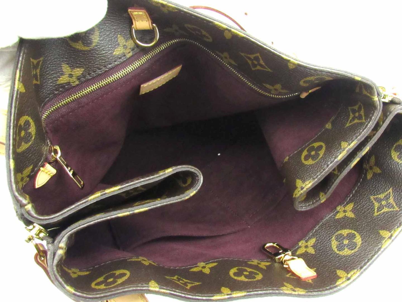 b591e0a1ff39 Auth LOUIS VUITTON Voltaire Shoulder Tote Bag Monogram Canvas Brown M41208