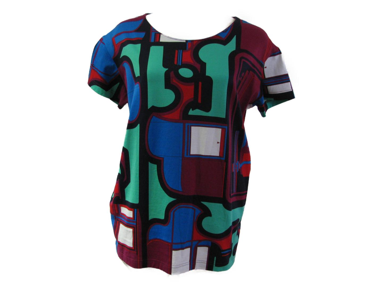 【中古】エルメス Tシャツ カットソー 衣料品 レディース コットン パープルxグリーンxブルー