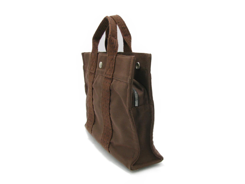 BRANDOFF  Authentic HERMES Herline tote PM tote Bag HandBag canvas ... 12dde56e7b918