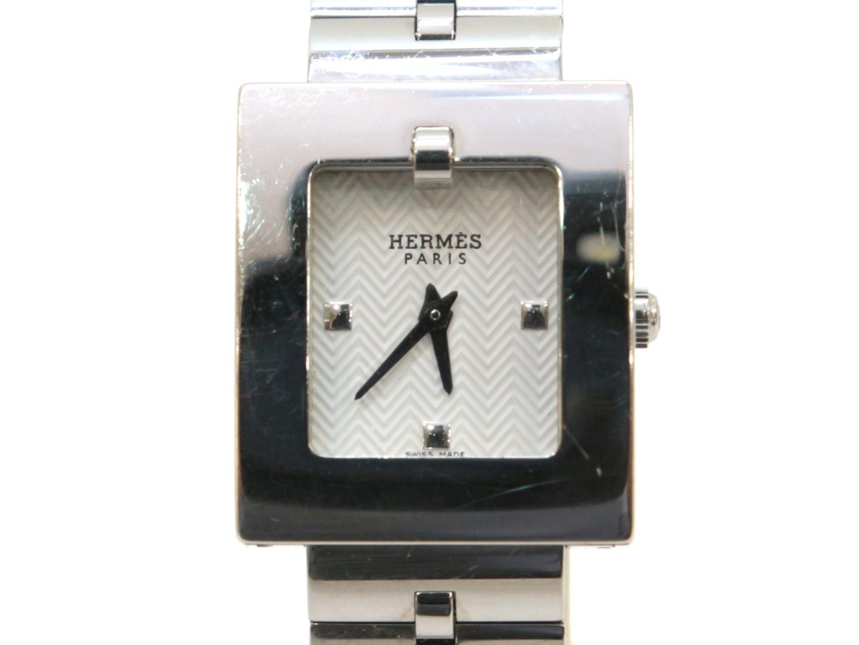 【中古】エルメス ベルトウォッチ 腕時計 時計 レディース ステンレススチール(SS) ホワイト (BE1.110)