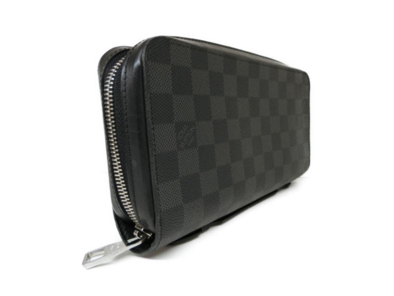 c25f2da6c266 Auth LOUIS VUITTON Zippy XL Zippy wallet Purse N41503 Damier Graphite Used