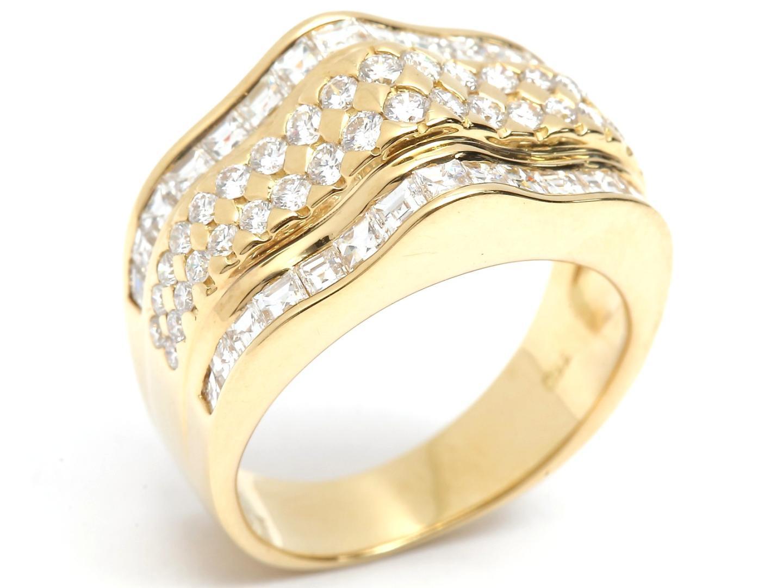 【最大24回無金利】 ジュエリー ダイヤモンド リング 指輪 レディース K18YG (750) イエローゴールド x (1.70ct) 【中古】 | JEWELRY BRANDOFF ブランドオフ アクセサリー