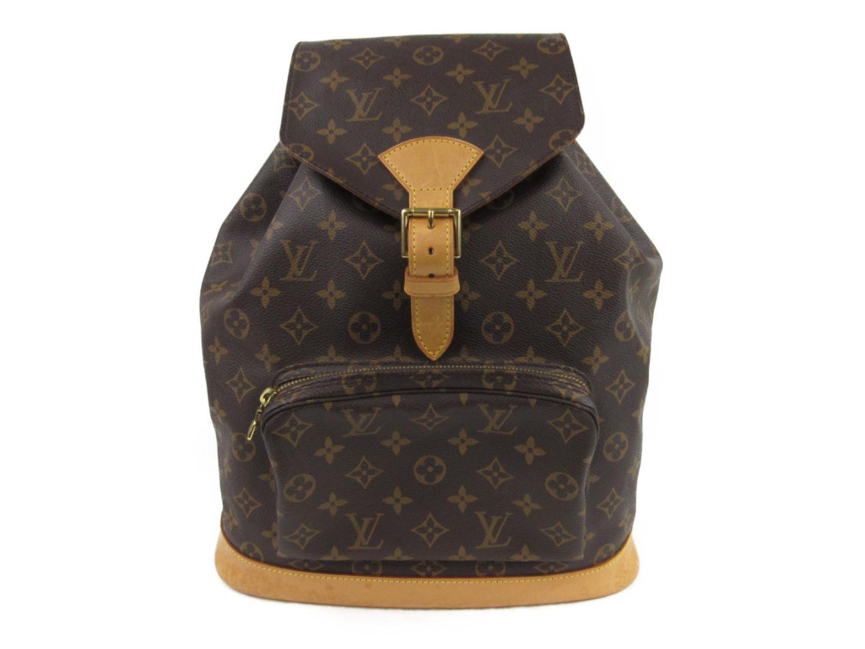 c014e6467d8a Authentic LOUIS VUITTON Montsouris GM Backpack Rucksack M51135 Monogram