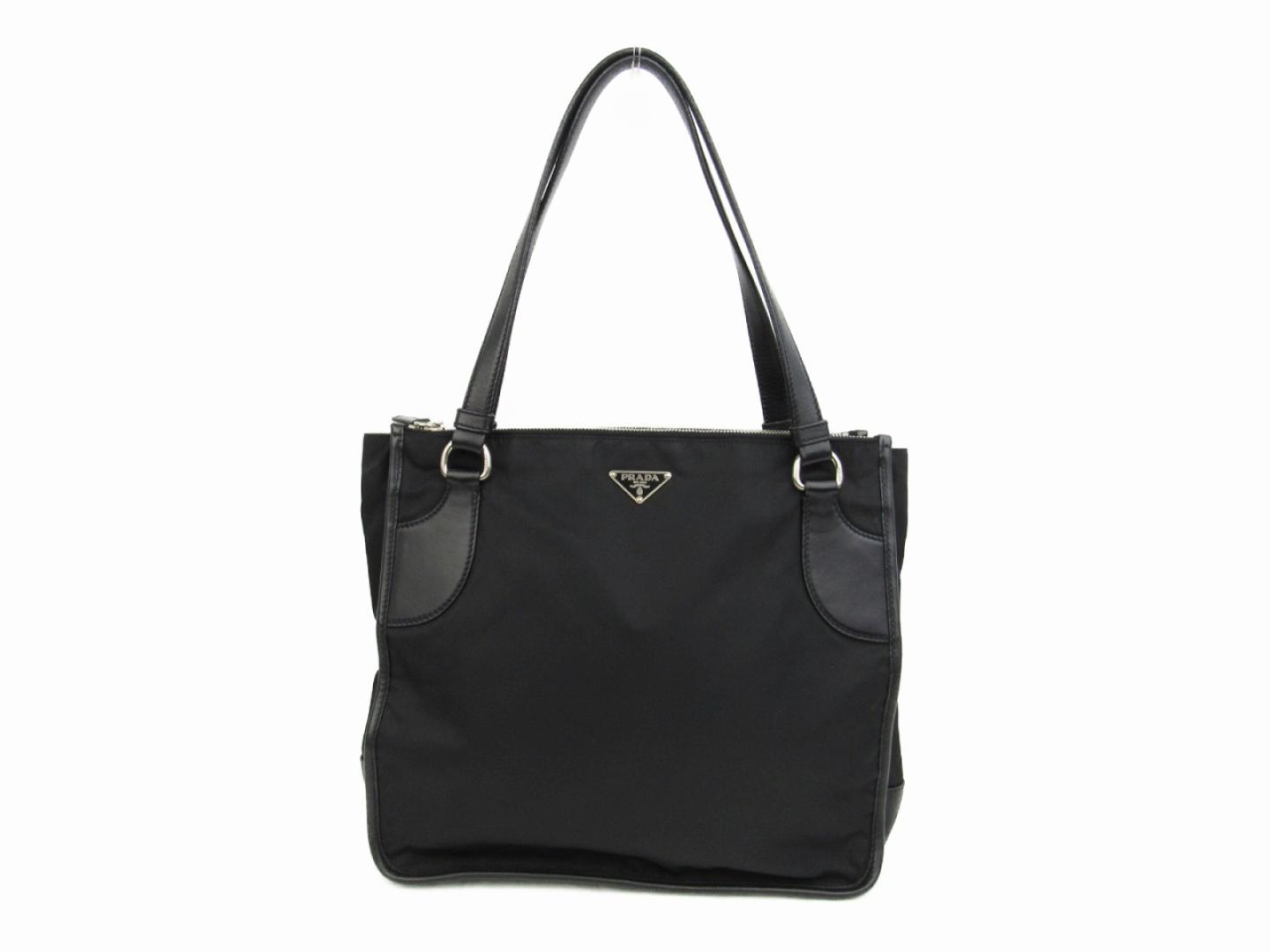 1d12828101 BRANDOFF  Authentic PRADA tote Bag Shoulder Bag nylon Black ...
