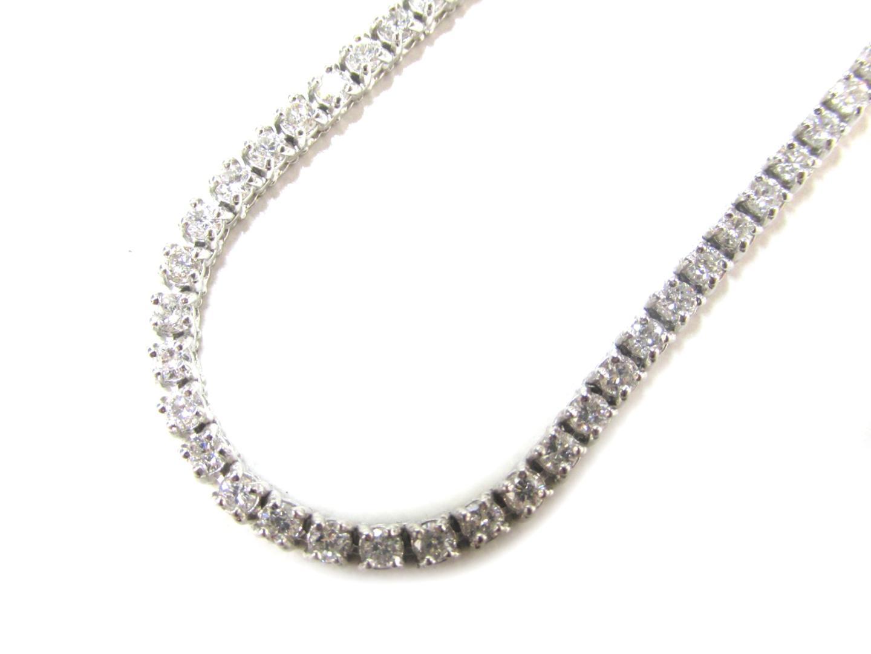 【中古】ジュエリー ダイヤモンドネックレス 貴金属 宝石 レディース K18WG(750) ホワイトゴールドxダイヤモンド(7.75ct)