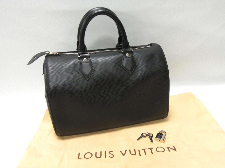 Authentic LOUIS VUITTON Speedy 25 Hand Bag M59032 Epi leather Black Noir c34a7be147054